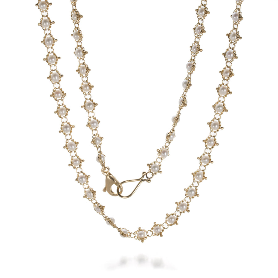 Amali Pearl Textile Necklace | Quadrum Gallery