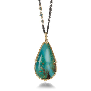 Amali Turquoise and Blue Diamond Necklace | Quadrum Gallery