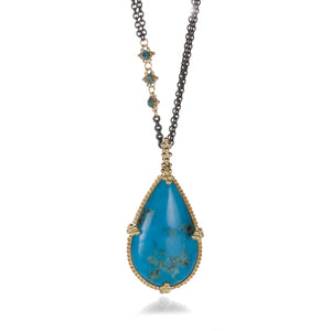Amali Turquoise Teardrop Necklace | Quadrum Gallery