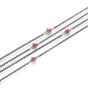 Amali Pink Tourmaline Station Necklace | Quadrum Gallery