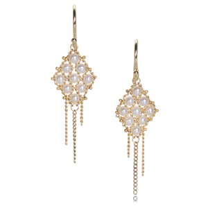Amali Pearl Textile Earrings | Quadrum Gallery