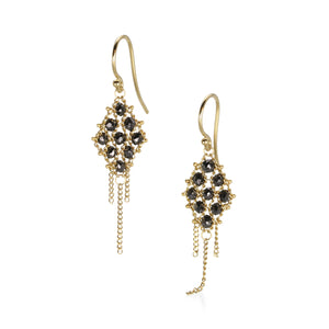 Amali Black Diamond Textile Earrings | Quadrum Gallery