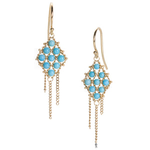 Amali Turquoise Textile Earrings | Quadrum Gallery