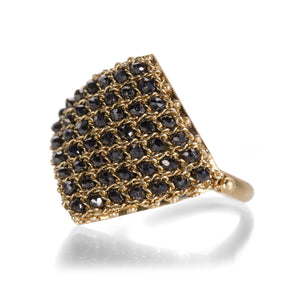Amali Black Diamond Textile Ring | Quadrum Gallery