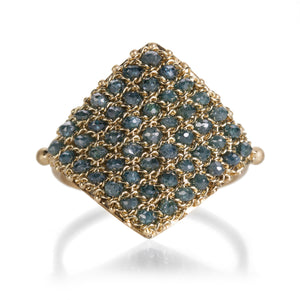 Amali Blue Diamond Textile Ring | Quadrum Gallery