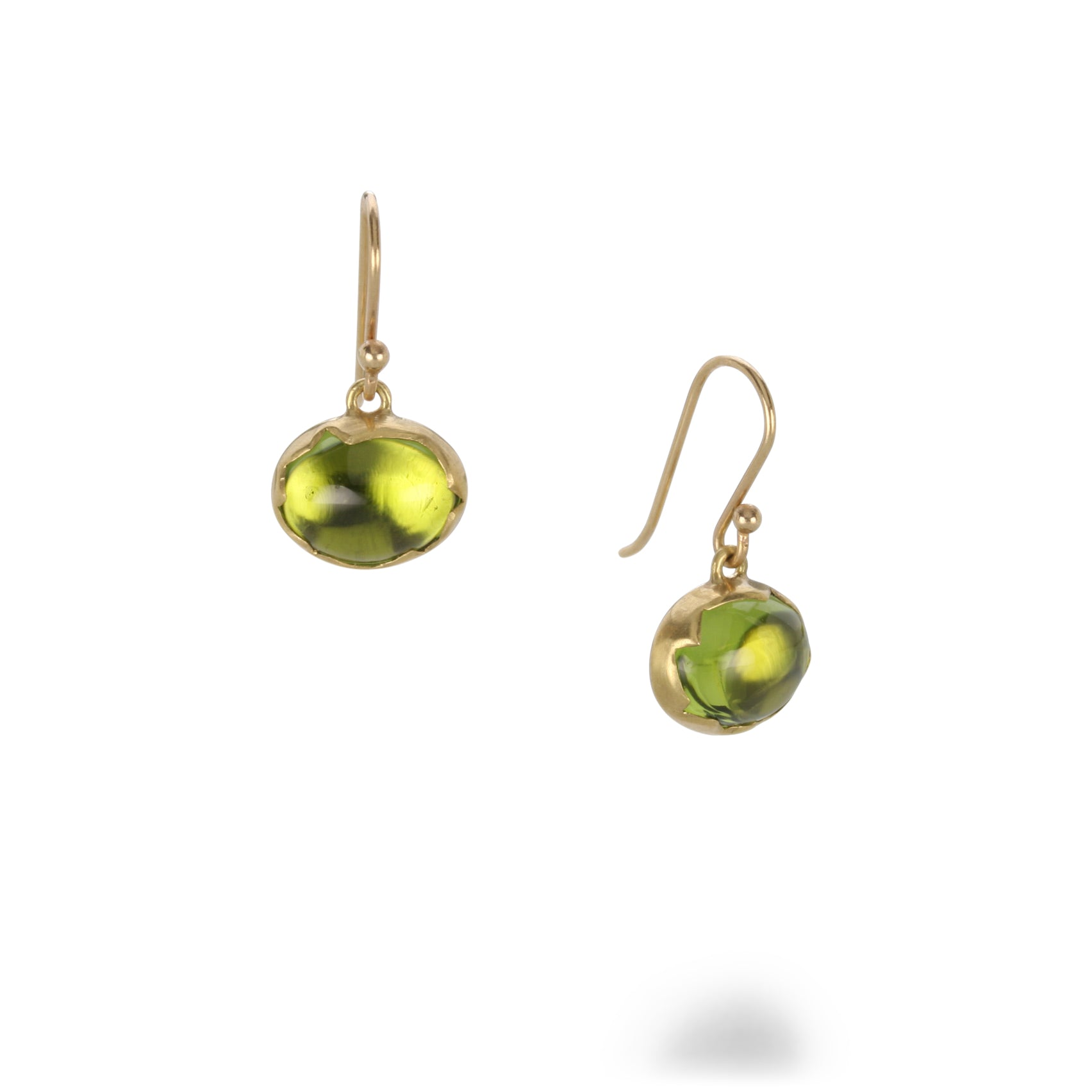 Peridot Egg Earrings