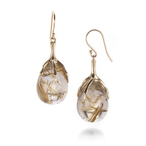 Annette Ferdinandsen Rutilated Quartz Earrings | Quadrum Gallery