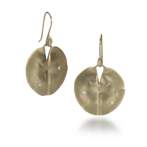 Annette Ferdinandsen Medium Gold Lily Pad Earrings | Quadrum Gallery
