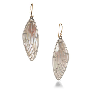 Annette Ferdinandsen Mother of Pearl Cicada Wing Earrings | Quadrum Gallery