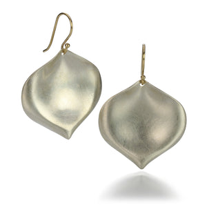 Annette Ferdinandsen Silver Large Rose Petal Earrings | Quadrum Gallery