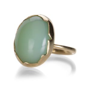 Annette Ferdinandsen Green Opal Cracked Bezel Ring | Quadrum Gallery
