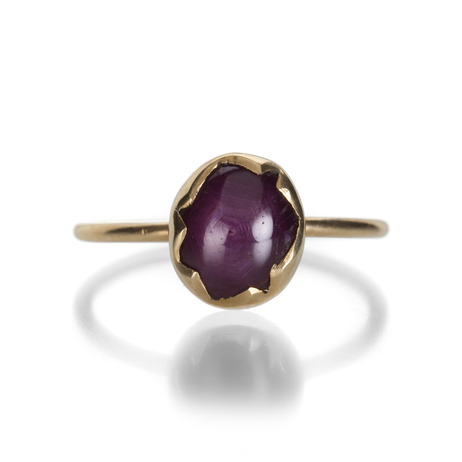 Annette Ferdinandsen Star Ruby Cracked Egg Ring | Quadrum Gallery