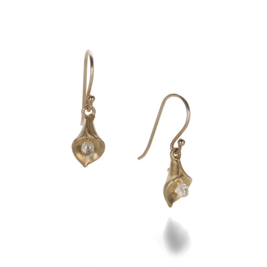 Annette Ferdinandsen Small Calla Lily Earrings with Diamonds | Quadrum Gallery