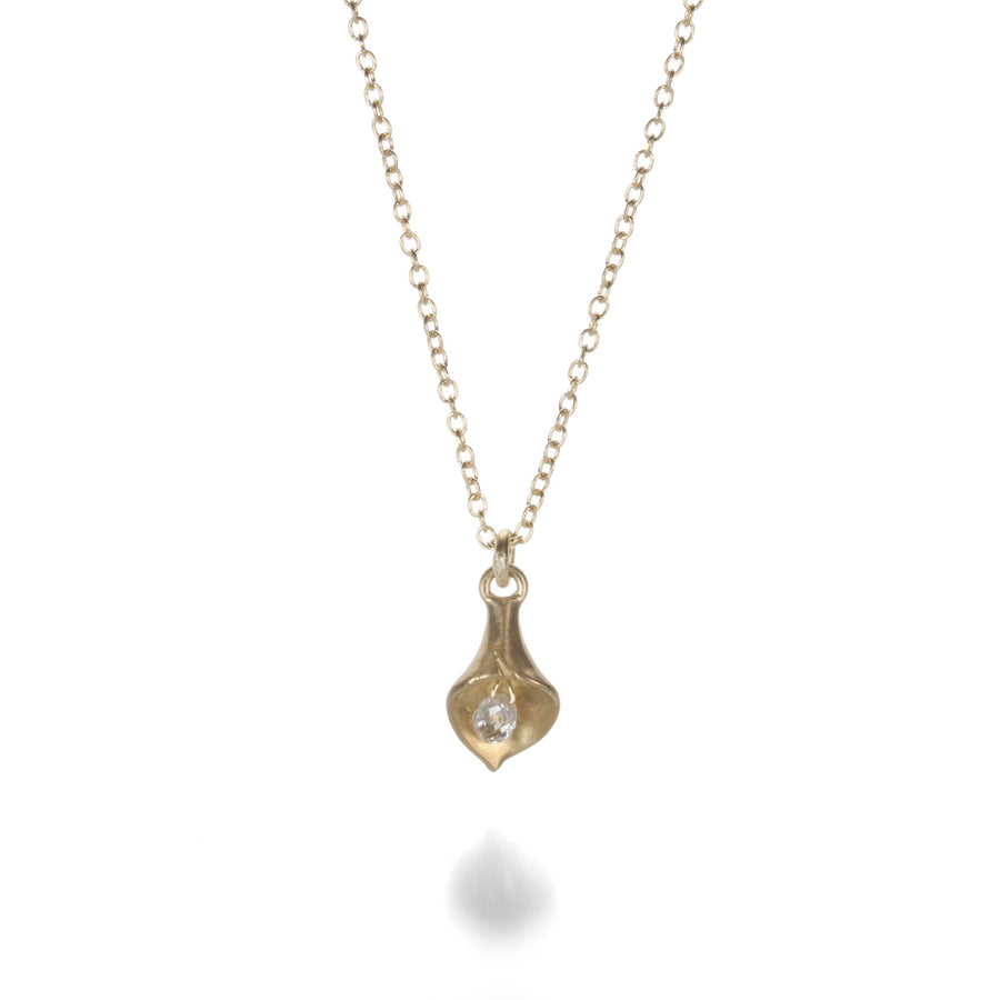 Annette Ferdinandsen Calla Lily Diamond Drop Necklace | Quadrum Gallery