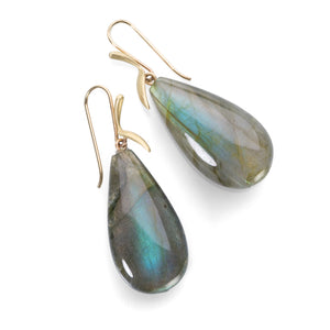 Annette Ferdinandsen Labradorite Simple Bird Earrings | Quadrum Gallery