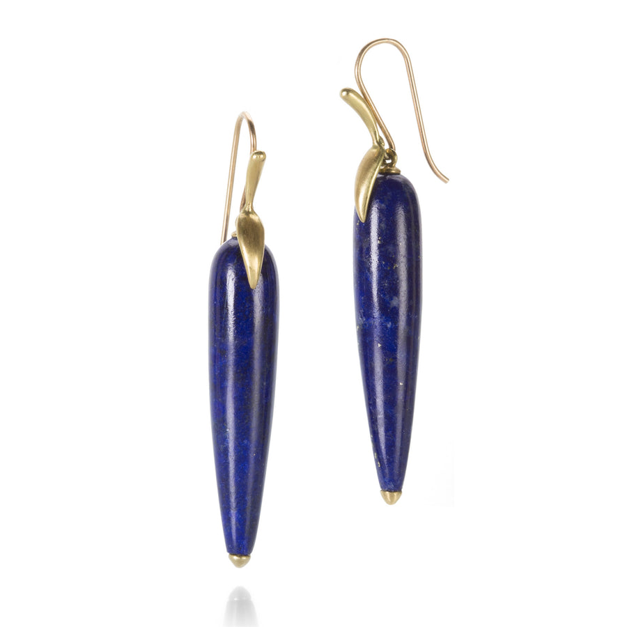 Annette Ferdinandsen Lapis Simple Bird Earrings | Quadrum Gallery