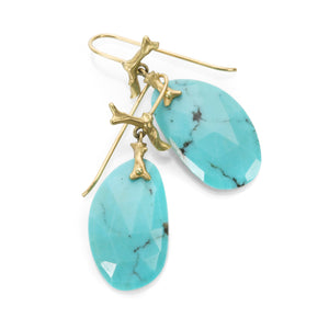 Annette Ferdinandsen Turquoise Branch Drop Earrings | Quadrum Gallery