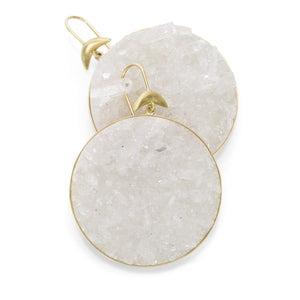 Annette Ferdinandsen Druzy Crystal Luna Earrings | Quadrum Gallery