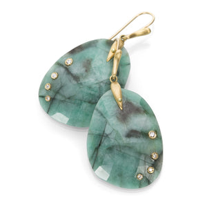 Annette Ferdinandsen Emerald Jeweled Wing Earrings | Quadrum Gallery