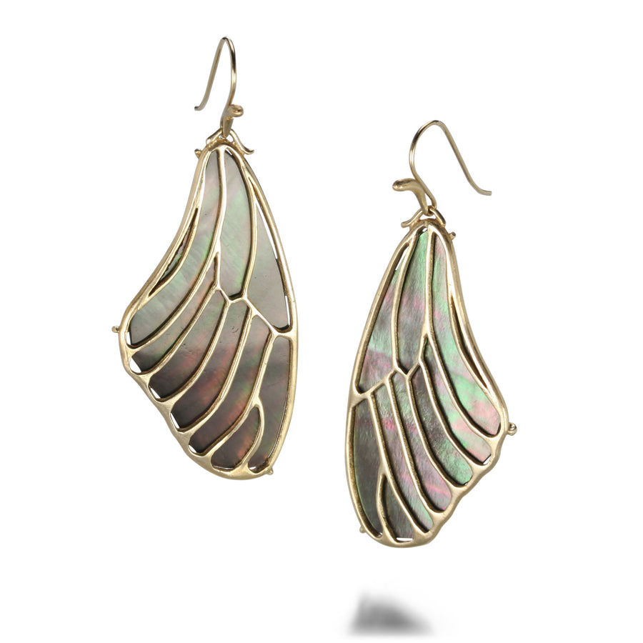 Annette Ferdinandsen Black Papillon Wing Earrings | Quadrum Gallery