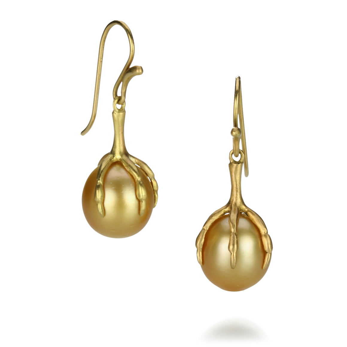 Claw Set Golden South Sea Pearl