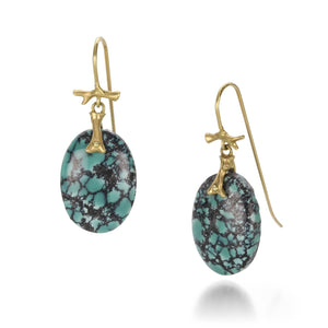 Annette Ferdinandsen Turquoise Slice Earrings | Quadrum Gallery