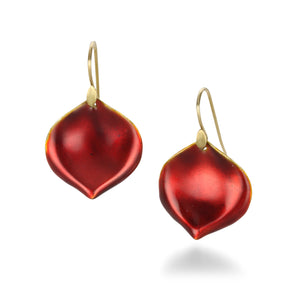 Annette Ferdinandsen Red Rose Petal Earrings | Quadrum Gallery