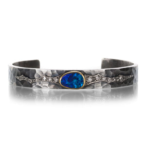 Annie Fensterstock Opal Cuff Bracelet with Diamonds | Quadrum Gallery