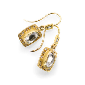 Annie Fensterstock Pave Frame Earrings | Quadrum Gallery