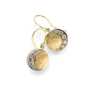 Annie Fensterstock Crescent Disc Earrings  | Quadrum Gallery