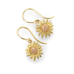 Annie Fensterstock Sunflower Earrings | Quadrum Gallery