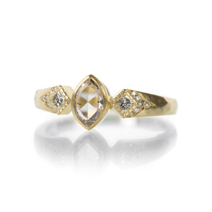 Annie Fensterstock Tapered Marquise and Princess Cut Ring | Quadrum Gallery