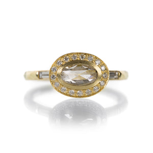 Annie Fensterstock Oval Halo Ring | Quadrum Gallery