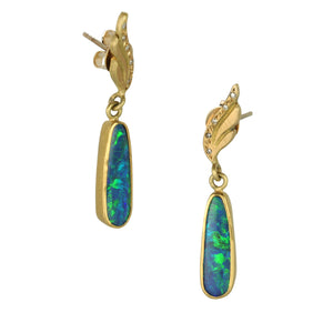 Annie Fensterstock Opal Drop Earrings | Quadrum Gallery