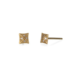 Annie Fensterstock Square Studs with Diamonds | Quadrum Gallery