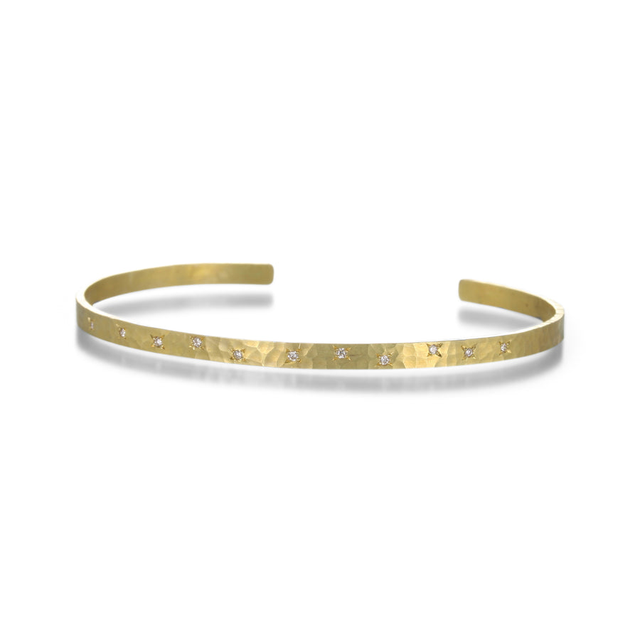 Annie Fensterstock Gold and Diamond Cuff | Quadrum Gallery