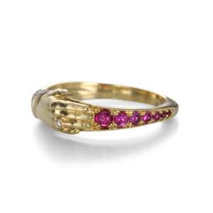 Anthony Lent Ruby One Hand Ring | Quadrum Gallery