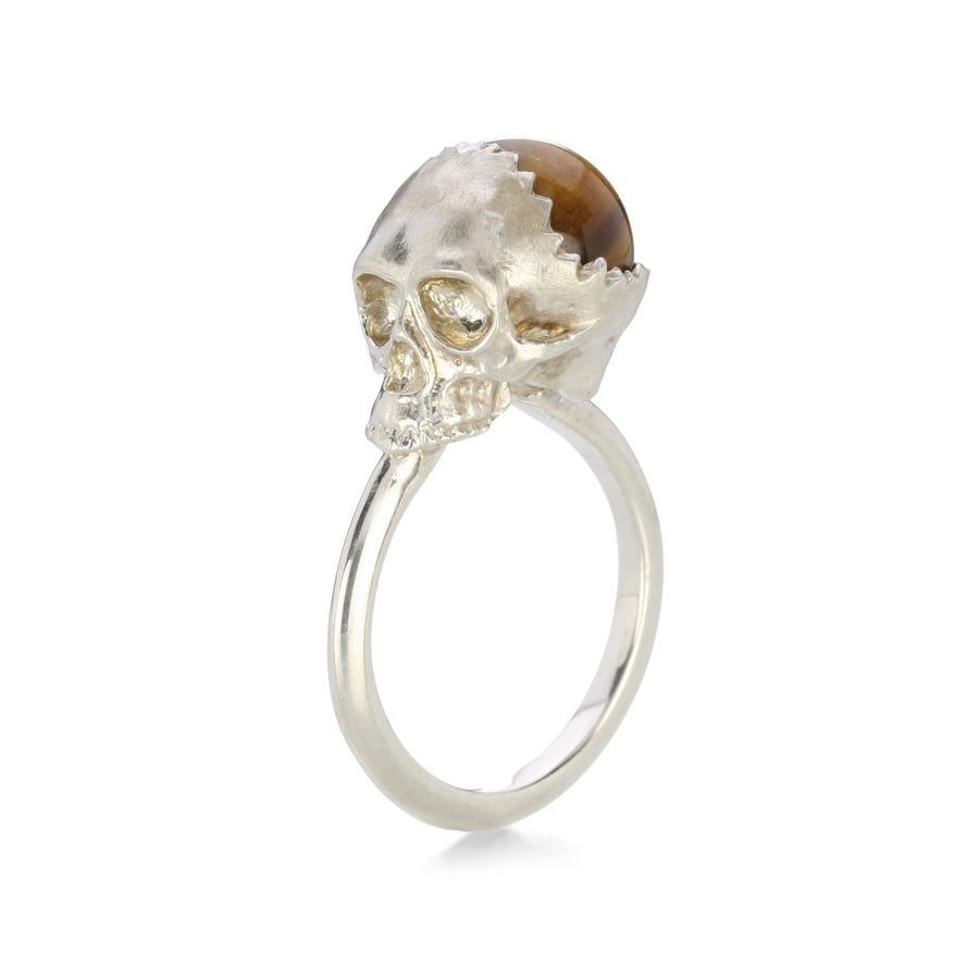 Anthony Lent Open Skull Ring with Tigers Eye | Quadrum Gallery
