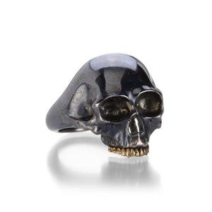 Anthony Lent Small Black Skull Ring | Quadrum Gallery