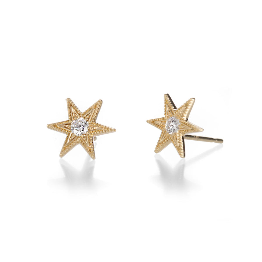Anthony Lent Six Point Star Studs | Quadrum Gallery