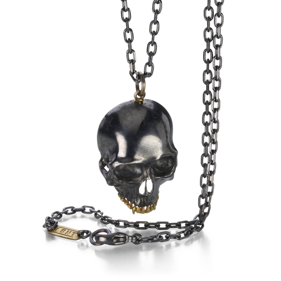 Anthony Lent Large Black Skull Necklace | Quadrum Gallery