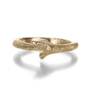 Anthony Lent Gold Ouroboros Snake Ring | Quadrum Gallery