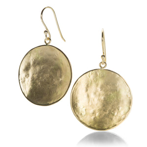 Anne Sportun Hammered Disc Drop Earrings | Quadrum Gallery
