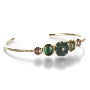 Brooke Gregson Maya Multi Gemstone Leaf Cuff | Quadrum Gallery