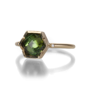 Brooke Gregson Ziggurat Hex Green Tourmaline Ring | Quadrum Gallery