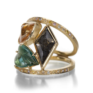 Brooke Gregson Maya Mosaic Leaf Ring | Quadrum Gallery
