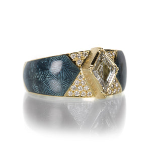 Brooke Gregson Hera Diamond Kite Enamel Ring | Quadrum Gallery