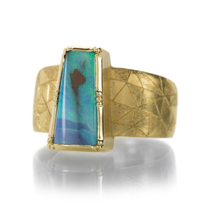 Brooke Gregson Hera Shield Engraved Boulder Opal Ring | Quadrum Gallery