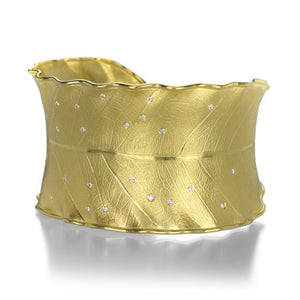 Barbara Heinrich Diamond Leaf Cuff | Quadrum Gallery