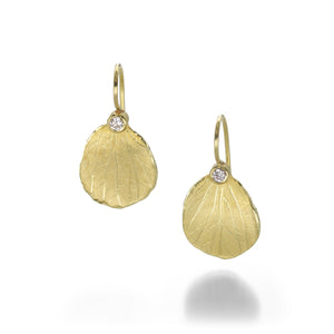 Barbara Heinrich Hydrangea Petal Earrings with Diamonds | Quadrum Gallery